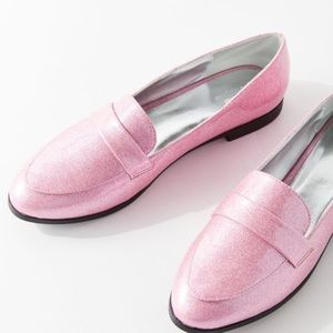 💕NWT Pink Glitter Loafer💕